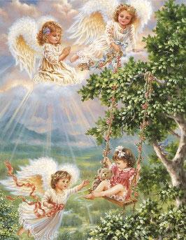 Девочка с ангелами (Д-10)