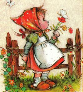 Девочка  с цветком (ДП-1)