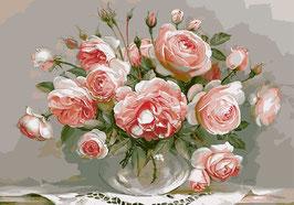 Розы  в стекле, (ЦР-1)