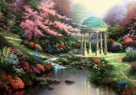 Цветущий сад с ротондой(П-12)