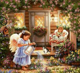 Ангелочки  в саду (Д-6)