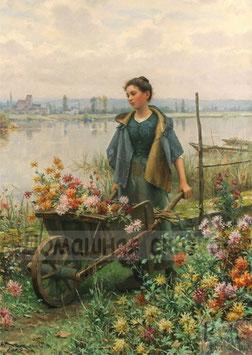 Девушка с тележкой (Л-12)