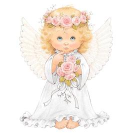 Ангел с розой (розовый) (АП-4.1.)