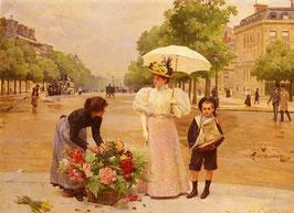 Продавщица цветов (мальчик) (Л-22)