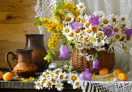 Ромашки и желтые цветы, Ц-114