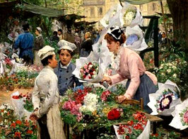 Продавщица цветов  (2 мальчика)  (Л-29)