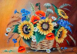 Корзина с полевыми цветами (Ц-1)
