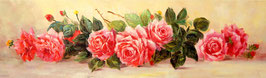 Красные  вытянутые  розы
