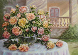 Розы на столе (Ц-40)