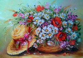 Полевые цветы и шляпка (Ц-73)