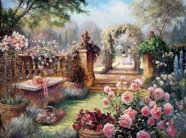 Розы в саду (П-30)
