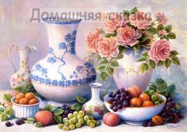 Розы и фрукты  (Ц-23)