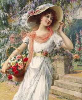 Девушке в шляпке и с корзинкой (Л-6)