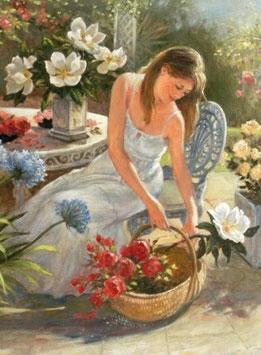 Девушка с цветами (Л-11)