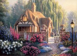 Цветы перед домиком  (П-6)