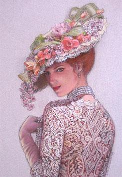 Дама в шляпке  (Л-1)