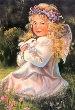 Ангел с зайчиком (Д-14)