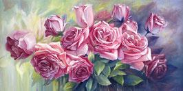 Розовые  розы  (ЦРП-1)