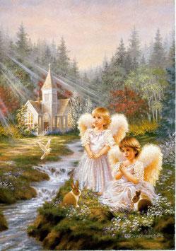 Два ангела с кроликами  (Д-26)