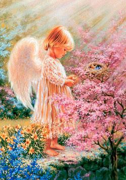 Ангел с птичками (Д-11)