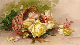 Белые розы в корзинке, ЦВ-5