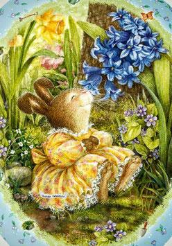 Кролик с цветами (М-36)