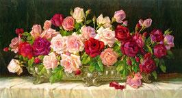 Розы в золотой чаше (черный фон), ЦВ-2