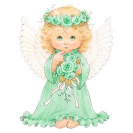 Ангел с розой (зеленый) (АП-4.2.)