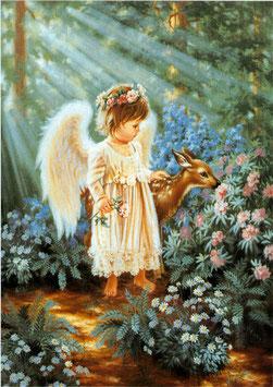 Ангел с олененком  (Д-23)