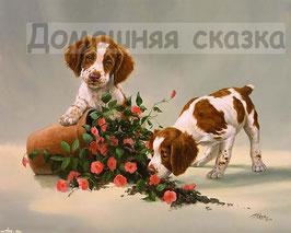 Собачки с розами (Ж-3)
