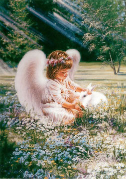 Ангел с кроликом (Д-17)