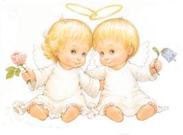 Два ангела с цветами (АП-13)