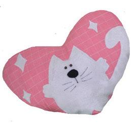 "Декоративная подушка с аппликацией ""И снова кошки"""