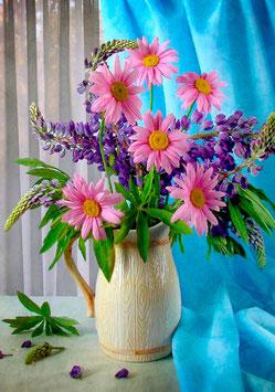 Люпин и хризантемы (Ц-58)