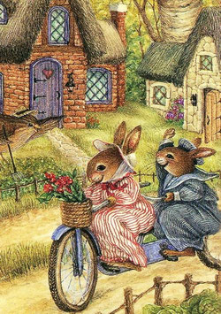 Кролики на велосипеде (М-19)