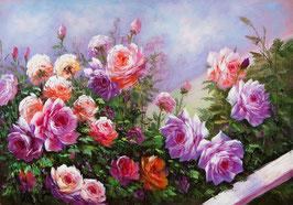 Розы в сиреневых тонах(ЦР-10)