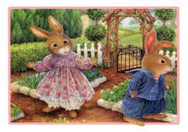 Кролики в саду( М-33)