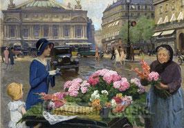 Пожилая продавщица цветов (Л-23)