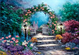 Калитка в сад  с розами (П-26)