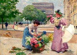 Продавщица цветов  у арки  (Л-21)