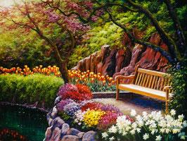 Скамейка в саду (П-116)