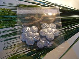Zinkblumen mit Kordel (3 Stk.)