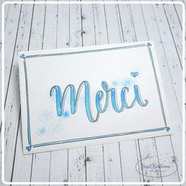 Lettering Postcard  - Merci