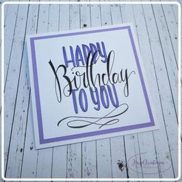 Lettering Geburtstag 18