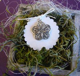 Metallanhänger 5 - Blume gross