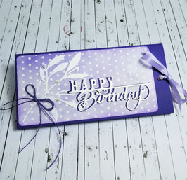 Ziehschokolade Geburtstag - Happy Birthday