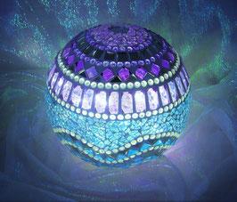 Mosaik Leuchtkugel 4 - Lila/Türkis