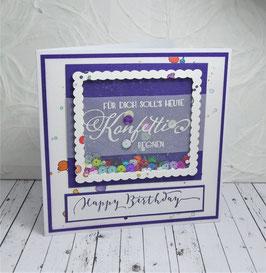 Schüttelkarte Geburtstag 5 - Happy Birthday
