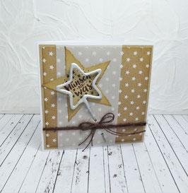 Wunderkerzenkarte Stern 2 - Wünsch dir was