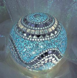 Mosaik Leuchtkugel gross - Türkis